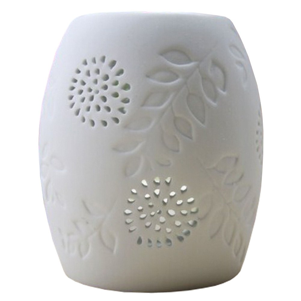 Classic Gifts& Decor Aromatherapy Essential AromaBurner Oil Diffuse Column White Kylin Express