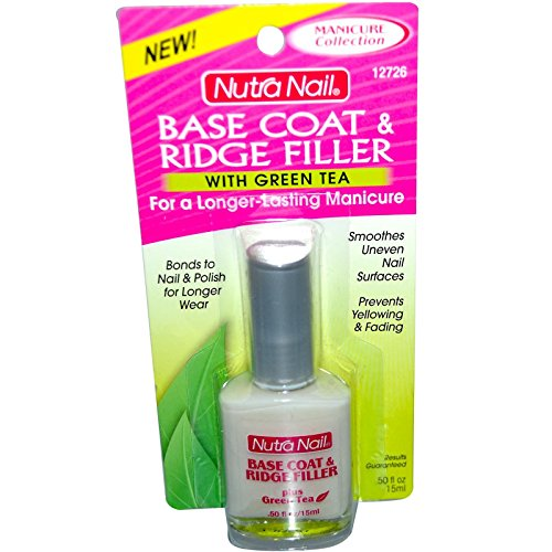 Nutranail Basecoat + Ridge Filler With Green Tea 0.5 oz.