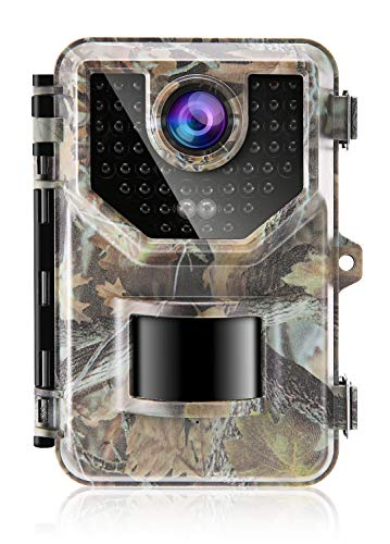 Sesern Game Trail Camera, 16MP 1080P Ultra Resolution Hunting Scouting Cam for Wildlife Monitoring, IP66 Waterproof, 48 LEDs 65ft IR Night Vision, Motion Activated, 120°Detection Range, Jungle Green