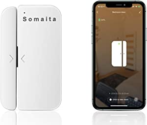 SOMAITA WiFi Door Window Alarm - Smart Phone APP Control Doorbell Compatible with Alexa Google Assistant, Wireless Security Alarm Door Open Chime for Home Bussiness Burglar Alert