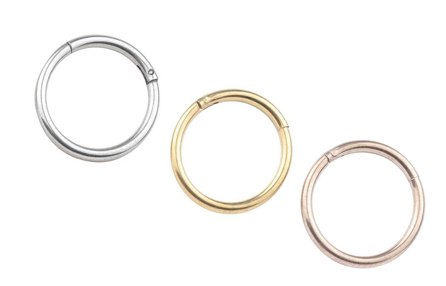 FB 16G 316L Stainless Steel Seamless Nose Ring Hoop Hinged Body Piercing Earring Hoop Clicker Ring……