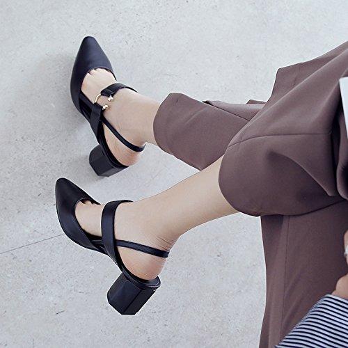 Shoeshaoge Eu37 uk4 5 Sous La Place Chaussures L'insérer Sandales Vide Femmes 101 Noir Dans Petite grxg7nwSq