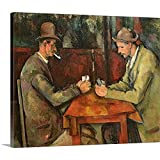 """GREATBIGCANVAS Gallery-Wrapped Canvas Entitled The Card Players, 1893 96 by Paul Cezanne 60""""x50"""""""