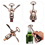 OBALY Includes Wing-Style Corkscrew with Bottle