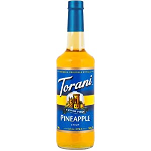 NEW Torani Sugar Free Pineapple Syrup w/FREE POUR SPOUT