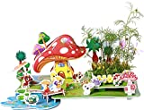 3D Preschool Learning Number Jigsaw Puzzle for Kids Age 3-12 Years Children Decorative DIY and Planting Flower Starter Kit 4 SHEET/34 PIECES (Medium Rural Scenery)