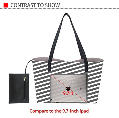 PU Travel for Nopersonality Tote Handbags Girls Leather Work Bags Pug7 for Capacity Women Satchels Large for Classic wpI7w
