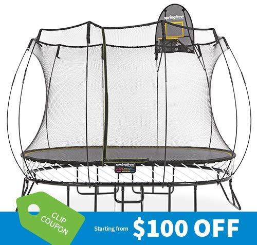 Springfree Trampoline - 8x11ft Medium Oval Smart Trampoline with...