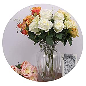 Memoirs- Simulation Large Bunch of Roses Wedding Bouquet Home Windowsill Decoration Fake Flowers Photography Props 62