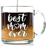 Taza de café con texto en inglés 'Best Mom Ever', ideal como regalo de cumpleaños para mamá, mujeres, día de la madre, regalo único para mamá, esposa o ella de hijo, hija, marido, regalo genial para una madre, divertida taza de novedad de 35 ml