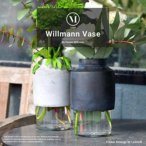 menu Willmann Vase/ウィルマン ベース メニュー デザイン/Hanne Willmann (グレー) B06XB9K1PZグレー
