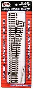 "HO Scale Code 83 2/"" Straight Section Atlas Part #525 4 pcs."