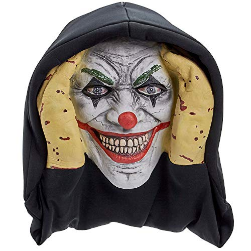 Scary Peeper Evil Clown It Inspired Look Halloween Prop - True-to-Life Pennywise Evil Jester That Peers in Your Window to Frighten Trick-Or-Treaters -