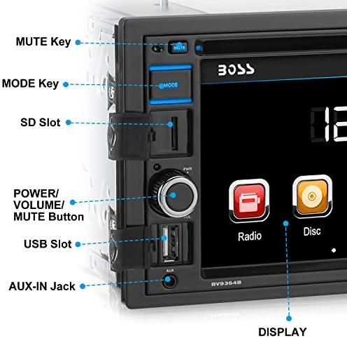 Boss Audio Systems BV9364B Car Stereo DVD Player  Double Din Bluetooth AudioHandsFree Calling 62
