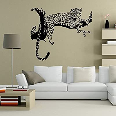 Sucis Black African Leopard Removable Mural Wall Stickers Wall Decal for Home Decor