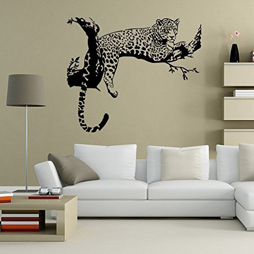 (Black African Leopard Wall Decal Removable Mural Wall Stickers for Home Decor)