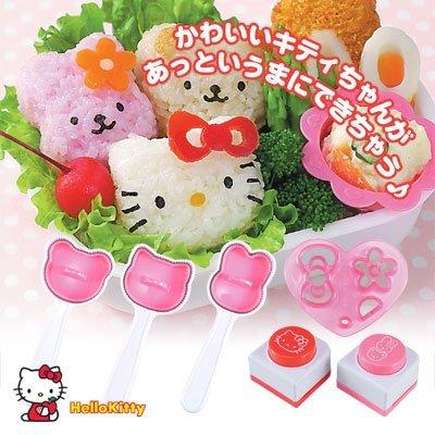 A kyaraben Deco valve Hello Kitty rice set useful -