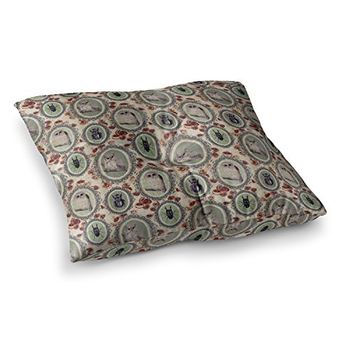 KESS InHouse Dlkg Design Camafeu Gray Beetles Square Floor Pillow x 26