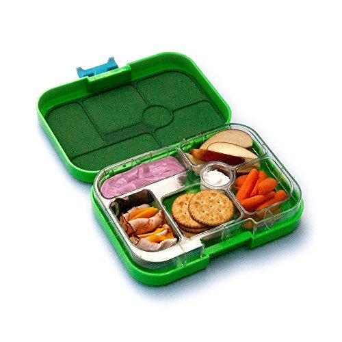 yumbox leakproof bento lunch box container new design pomme green for kids buy online in uae. Black Bedroom Furniture Sets. Home Design Ideas