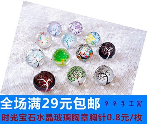 - A tree full trees flowers flourishing series gem crystal brooch badge badge corsage group