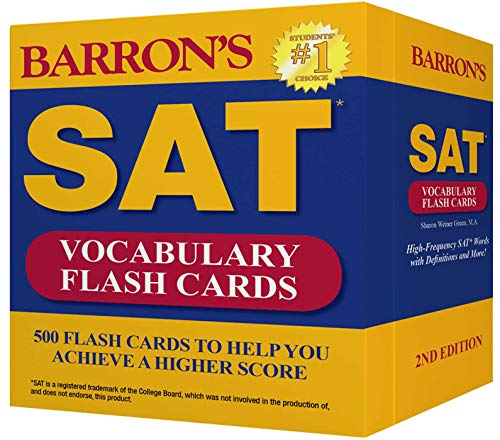 Barron's SAT Vocabulary Flash Cards: 500 Flash Cards to Help You Achieve a Higher Score