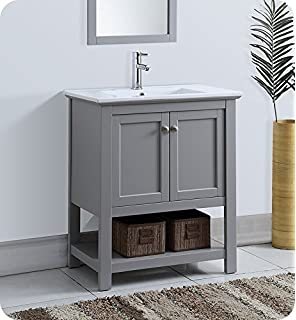 fresca manchester 30 gray traditional bathroom vanity - Gray Bathroom Vanity