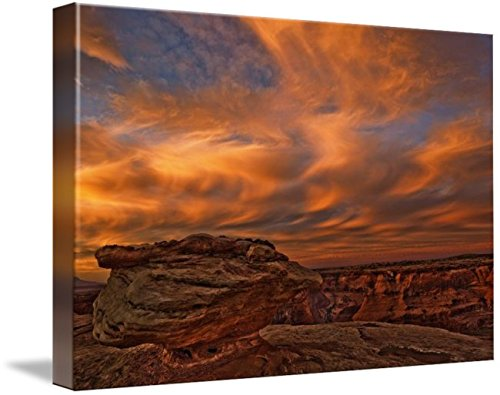 Wall Art Print entitled Vibrant Sunset Over The Rim Of Canyon De Chelley, by Design Pics | 16 x 11