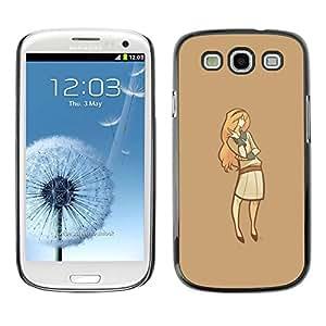 All Phone Most Case / Oferta Especial Duro Teléfono Inteligente PC Cáscara Funda Cubierta de proteccion Caso / Hard Case Samsung Galaxy S3 // Minimalist Lady
