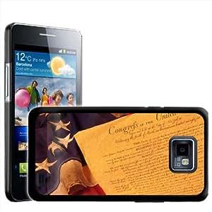 Fancy A Snuggle diseño de bandera de Estados Unidos para Samsung Galaxy S2 i9100