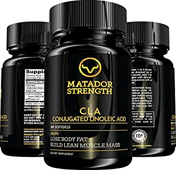 CLA Conjugated Linoleic Acid Weight Loss Supplement - Fat Burner, Metabolism and Muscle Tone, Appetite Control and Suppressant, Plant-Derived, Non-GMO, Non-Stimulating, Safflower Oil, 60 Softgels