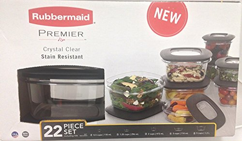 Rubbermaid Premier 22-piece Food Saver Storage Container Set with Easy Find Lids (Clear)