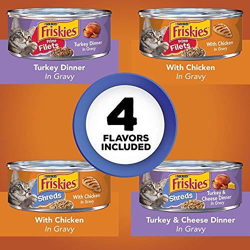 Purina Friskies Wet Cat Food Variety Pack 4