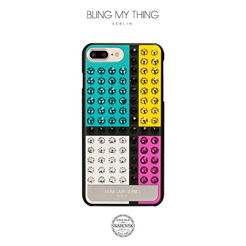 Bling-My-Thing iP7-l-ev-bkm-bkm Extravaganza De Stijl Serie Luxuriöses und einzigartiges Design veredelt mit original Swarovski Kristallen, modisches Case für Apple iPhone 7 Plus Vivid