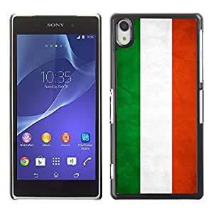 Shell-Star ( National Flag Series-Hungary ) Snap On Hard Protective Case For SONY Xperia Z2 / D6502 / L50W