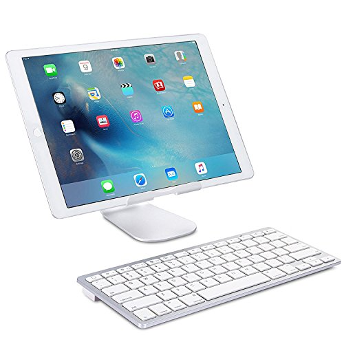 OMOTON Ultra-Slim Bluetooth Keyboard Compatible with 2018 iPad Pro 11/12.9, New iPad 9.7 Inch, iPad Air, iPad Mini, iPhone and Other Bluetooth Enabled Devices, White