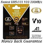 Amplim 256GB 128GB 64GB 16GB Micro SD SDXC V30 V10 U3 A1 Memory Card Plus Adapter Pack (Class 10 UHS-I MicroSD XC Extreme Pro) 64 GB Ultra High Speed 667X 100MB/s UHS-1 TF MicroSDXC 4K Video 7 CELL PHONE/TABLET COMPATIBILITY: Samsung Galaxy J2 Tab A Note8 Note 8 S8 S9 Plus S8+ Active S7 S5 S6 J7 V Max edge J5 J3 Emerge Perx E5 Prime Z4 Amp Express 2 Xcover 4 Tab S3 S2 E A Book 8.0 S2 9.7 View C7 C9 Pro A7 A5 A3 Eclipse Note5 On5 Amp 2 Halo; LG V30 V30+ V20 V10 X charge Q8 Q6 G6 G6+ G5 G4 X K8V venture Stylo 2 3 Power Harmony K20 V Fortune Phoenix 3 G Pad X II F2; Amazon Kindle Fire HD, Microsoft Surface Pro 3 4; ASUS ZenFone V Live 4 Selfie Pro 3S 10 LTE Live AR 3 Zoom ZenPad Z10 Z8 Sony Xperia XZ Premium XA1 XZ1 Compact L1 XZS XCompact XA Z5 M5; HTC One U11 life Desire 555 U Play 530 625 10 A9; Motorola Moto X4 G5S Z Z2 Force Edition E4 Play G5 G4 Bolt Droid tab MAXX 2 TURBO 2; Huawei Honor 9 7X 6C 8 Pro View 10 V10 Mate 10 Lite Y6 Pro P8 P9 Lite P10 mini nova 2 Plus6A nova 2 Y7; OPPO F5 R11 F3; Xiaomi Redmi Y1 Lite Mi A1 Max 2 5 Note 4X; ZTE Blade X Force Vantage XL V8 Axon M Blade Zpad Nokia 2 8 3 5 6; Nintendo 2DS 3DS Alcatel IDOL 4 5 LED A7 A30 Tablet Fierce U5 HD Idol 5S A30 Plus A50 Pulsemix; BlackBerry KEYone PRIV; BLU Life One X2 Mini R1 Plus Tank Xtreme Dash L3 Vivo XL2; Razer Phone; nubia N2 N1 Lite;; ARCHOS 50 55 Graphite; FiGO Gravity; DuraForce PRO; Ellipsis 8 HD Gizmo Tab; Lumia 735 640 650 950 XL; AT&T Trek 2 HD G Pad X 8.3 8.0 F II 10.1 Lancet 626 626S; LG Exalt LTE Aristo K3 Fortune; Elipsis 10; ZTE Avid TRIO Overture Tempo X Prestige 2; Alcatel TRU FIERCE 4 ONETOUCH IDOL Revvl Plus