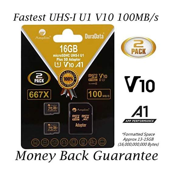 Amplim 256GB 128GB 64GB 16GB Micro SD SDXC V30 V10 U3 A1 Memory Card Plus Adapter Pack (Class 10 UHS-I MicroSD XC Extreme Pro) 64 GB Ultra High Speed 667X 100MB/s UHS-1 TF MicroSDXC 4K Video 1 CELL PHONE/TABLET COMPATIBILITY: Samsung Galaxy J2 Tab A Note8 Note 8 S8 S9 Plus S8+ Active S7 S5 S6 J7 V Max edge J5 J3 Emerge Perx E5 Prime Z4 Amp Express 2 Xcover 4 Tab S3 S2 E A Book 8.0 S2 9.7 View C7 C9 Pro A7 A5 A3 Eclipse Note5 On5 Amp 2 Halo; LG V30 V30+ V20 V10 X charge Q8 Q6 G6 G6+ G5 G4 X K8V venture Stylo 2 3 Power Harmony K20 V Fortune Phoenix 3 G Pad X II F2; Amazon Kindle Fire HD, Microsoft Surface Pro 3 4; ASUS ZenFone V Live 4 Selfie Pro 3S 10 LTE Live AR 3 Zoom ZenPad Z10 Z8 Sony Xperia XZ Premium XA1 XZ1 Compact L1 XZS XCompact XA Z5 M5; HTC One U11 life Desire 555 U Play 530 625 10 A9; Motorola Moto X4 G5S Z Z2 Force Edition E4 Play G5 G4 Bolt Droid tab MAXX 2 TURBO 2; Huawei Honor 9 7X 6C 8 Pro View 10 V10 Mate 10 Lite Y6 Pro P8 P9 Lite P10 mini nova 2 Plus6A nova 2 Y7; OPPO F5 R11 F3; Xiaomi Redmi Y1 Lite Mi A1 Max 2 5 Note 4X; ZTE Blade X Force Vantage XL V8 Axon M Blade Zpad Nokia 2 8 3 5 6; Nintendo 2DS 3DS Alcatel IDOL 4 5 LED A7 A30 Tablet Fierce U5 HD Idol 5S A30 Plus A50 Pulsemix; BlackBerry KEYone PRIV; BLU Life One X2 Mini R1 Plus Tank Xtreme Dash L3 Vivo XL2; Razer Phone; nubia N2 N1 Lite;; ARCHOS 50 55 Graphite; FiGO Gravity; DuraForce PRO; Ellipsis 8 HD Gizmo Tab; Lumia 735 640 650 950 XL; AT&T Trek 2 HD G Pad X 8.3 8.0 F II 10.1 Lancet 626 626S; LG Exalt LTE Aristo K3 Fortune; Elipsis 10; ZTE Avid TRIO Overture Tempo X Prestige 2; Alcatel TRU FIERCE 4 ONETOUCH IDOL Revvl Plus