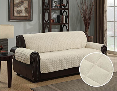 Quilted Micro Suede Pet Dog Couch Sofa Furniture Protector C