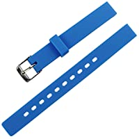 Children's Candy Color Silicone Watch Band Waterproof Rubber Strap 12mm