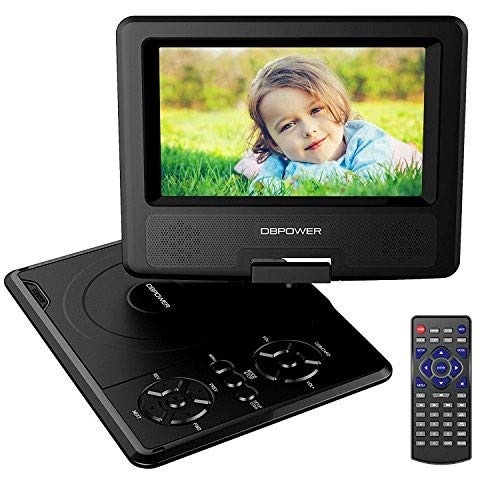 DBPOWER 10.5-Inch Portable DVD Player with Rechargeable Battery, SD Card Slot and USB Port - Black (Toddler Won T Go To Sleep Alone)