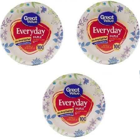 Great Value 8 5/8u0026quot; Heavy Duty Premium Party Paper Plates 100 ct  sc 1 st  Amazon.com & Amazon.com: Great Value 8 5/8