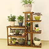 AIDELAI Flower Shelf Decoration Solid Wood Multiple Layers Flower Racks Fresh Natural Pastoral Anti-corrosion Patio Garden Pergolas