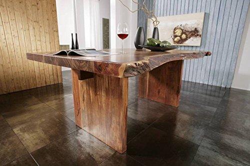 Massivmöbel Landhausstil walnuss lackiert massiv Holz Baumtisch 230x110 Akazie Holz massiv Möbel Freeform #104