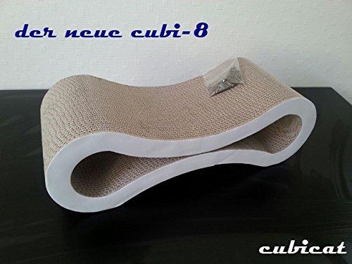 cubicat cubi-8 Kratzbrett/ Scratcher + Catnip aus Pappe für Katzen