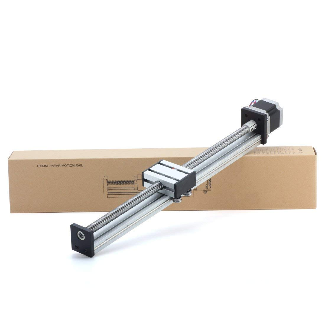 MYSWEETY 400mm Travel Length Linear Stage Actuator DIY CNC Router Parts X Y Z Linear Rail Guide Sfu1605 Nema23