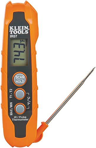 Klein Tools IR07 Dual Infrared IR and Probe Pocket Size LCD Digital Thermometer