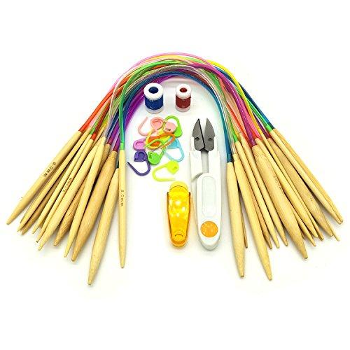 - Circular Knitting Needles Set by Wartoon 18 Pairs 16
