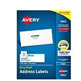 Avery Mailing Address Labels, Inkjet Printers, 1,400 Labels, 1-1/3 x 4, Permanent Adhesive (8462)
