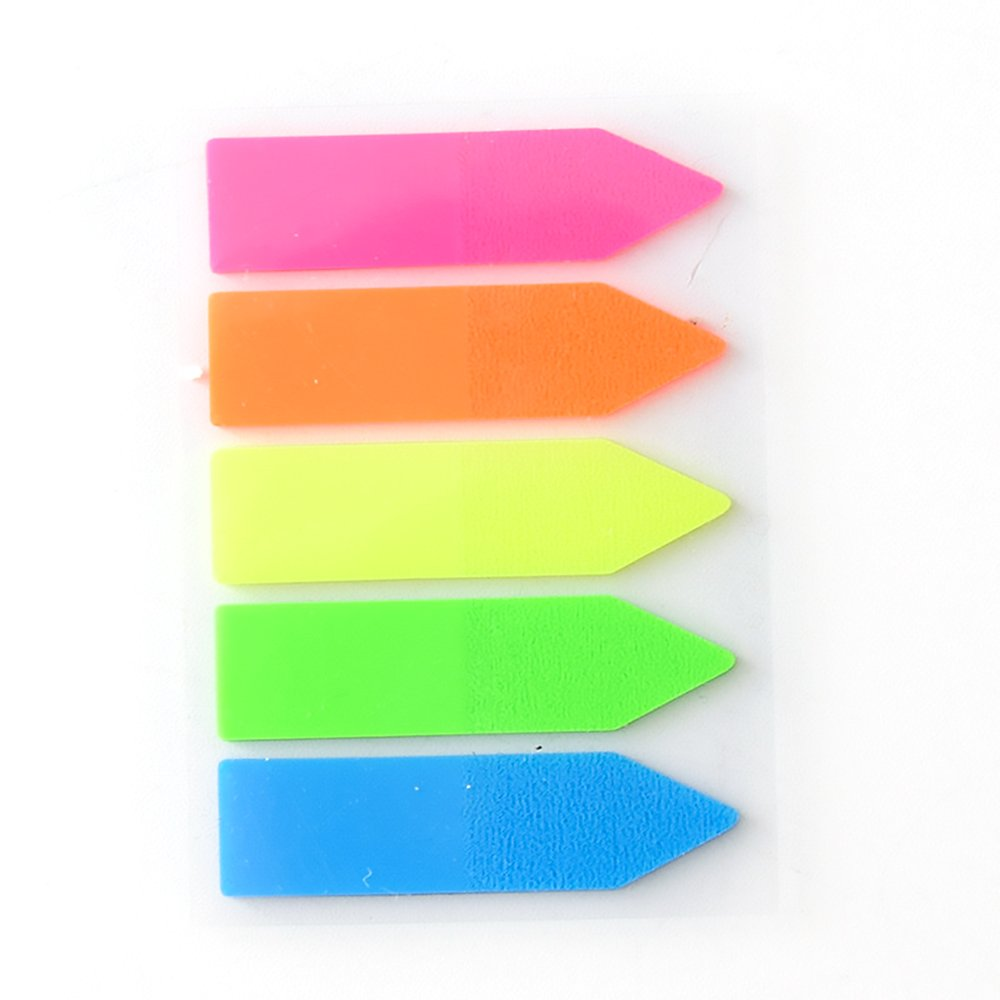 Fluorescent Sticky Notes,Morenitor Colored Index Tabs Page Markers Sticker Arrow Rectangular Flags for Marking G13KU1A2J4083ID2ZHYT