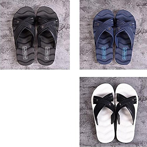 XIAOLIN Zapatillas antideslizantes de verano sandalias y zapatillas de playa para hombre al aire libre Zapatillas interiores de baño coreano de fricción profunda Wave (tamaño opcional) ( Color : 02 ,  03
